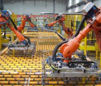 Robots Manufacturing Factory Floor